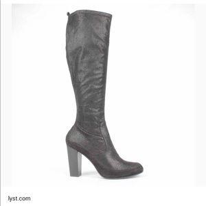 Donald J Pliner chenia Grey boots heeled 6.5 7